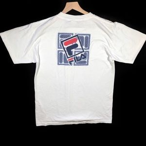 Vtg Made In USA Fila Spellout T Shirt Size M L